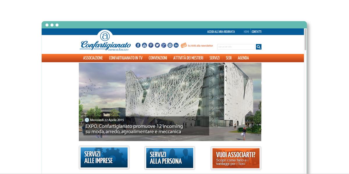 Responsive web design per Confartigianato Arezzo