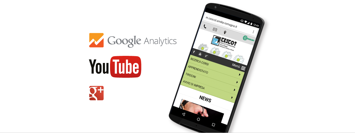 Progetto web mobile friendly, analytics, social media