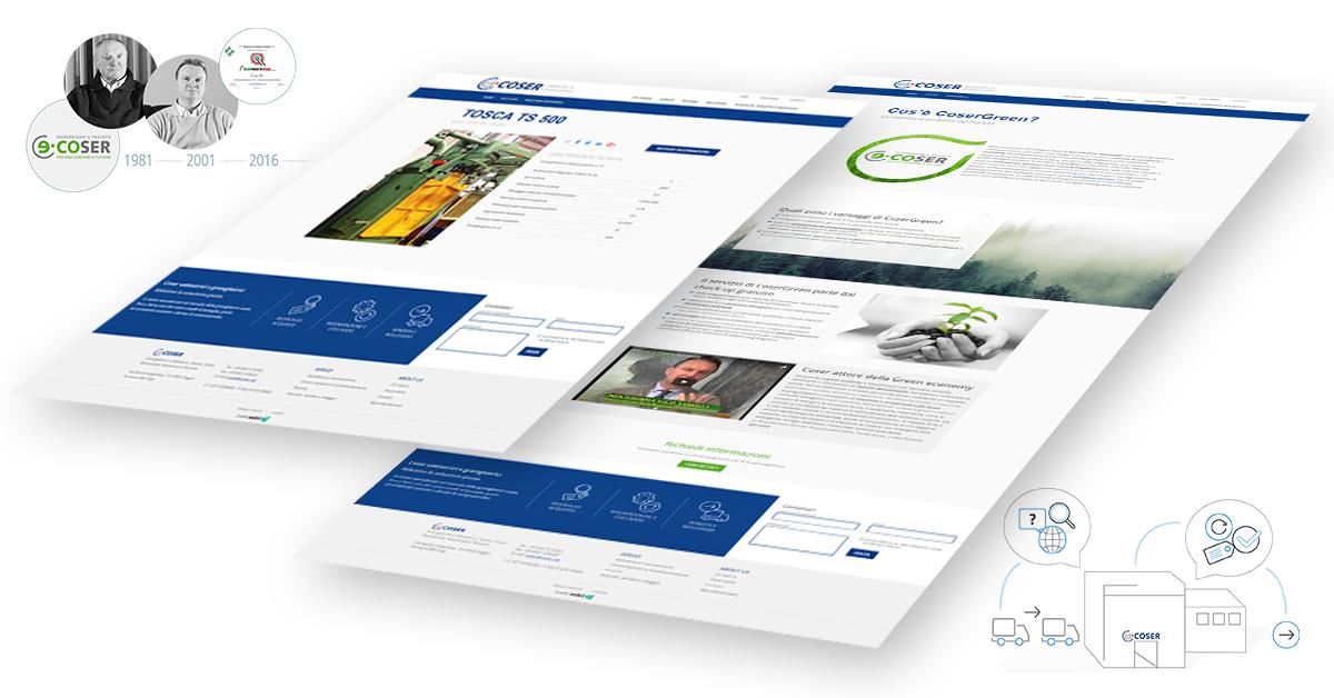 Nuovo sito Coser - Webit