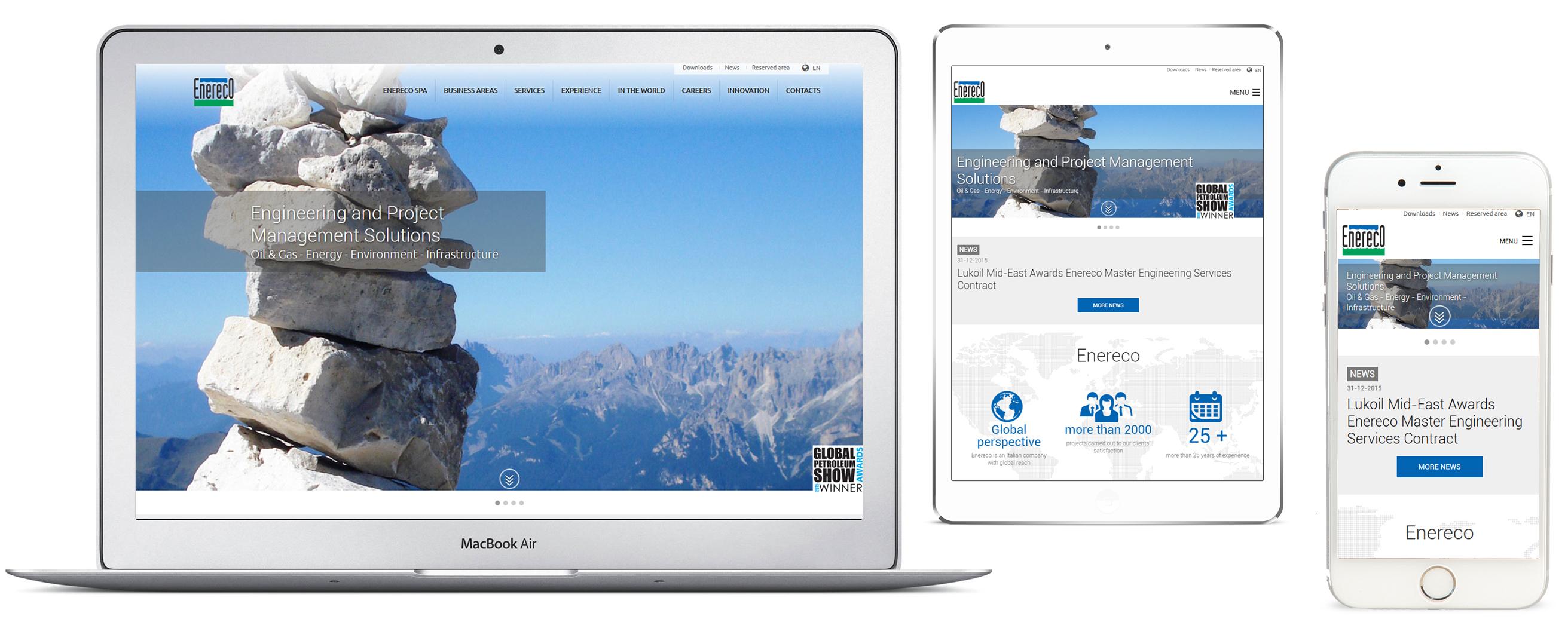 Responsive web design - Enereco