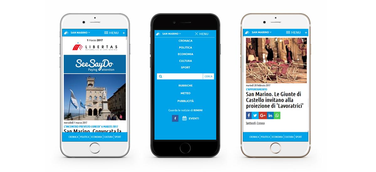 Mobile first - progetto Libertas