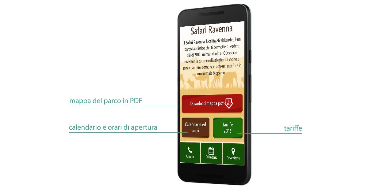 call to action - safari ravenna mobile