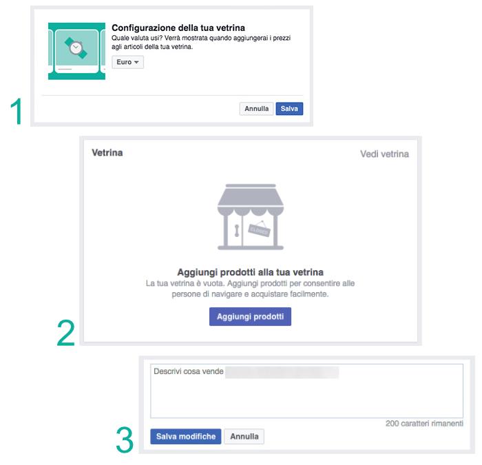 Come configurare la vetrina facebook - Webit