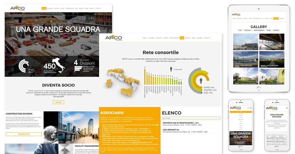 Progetto web Ar.co Lavori - responsive web design