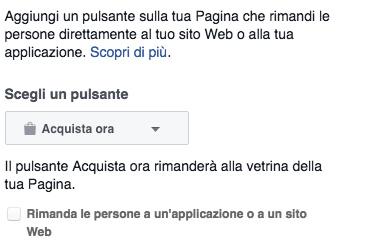 Pulsante acquista ora su Facebook - Webit