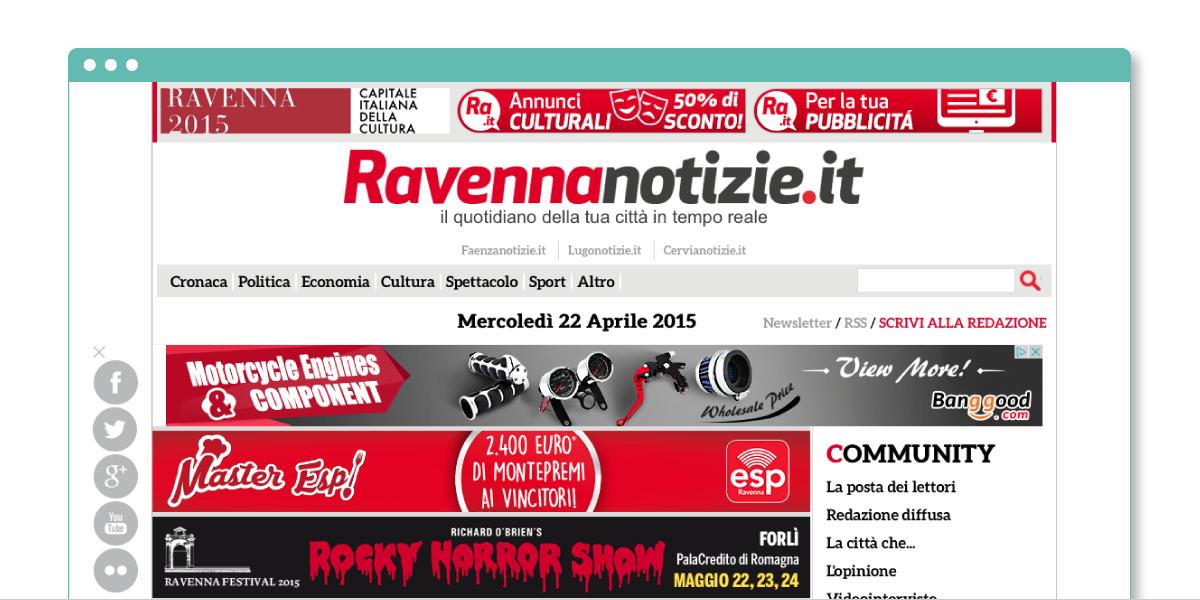 Progetto web Ravenna Notizie