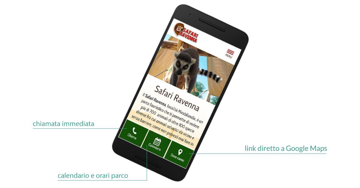 Safari Ravenna sito web mobile