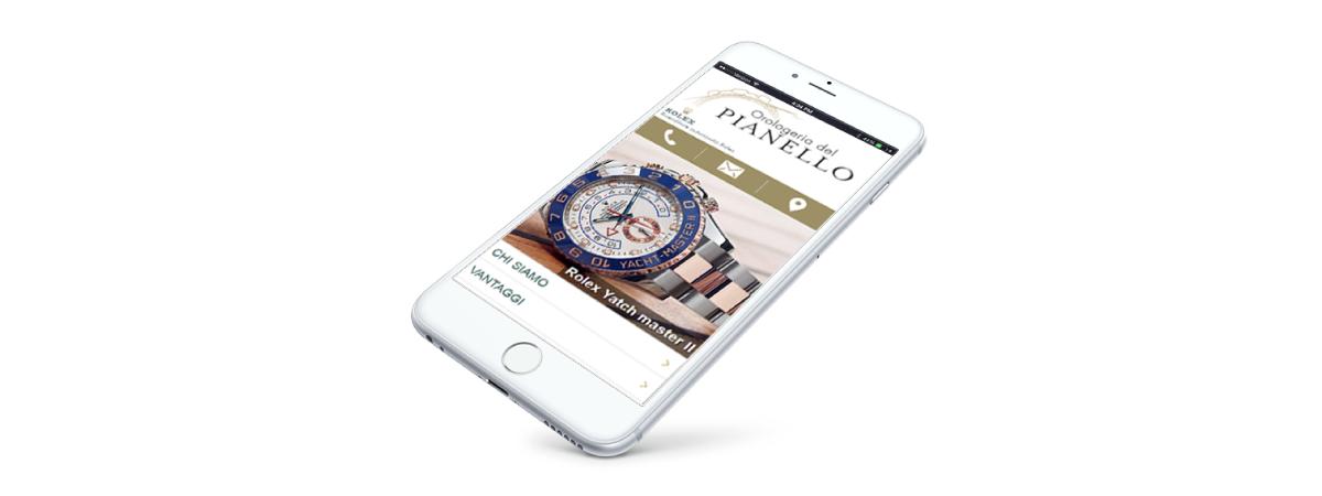 Sito web mobile Orologeria del Pianello