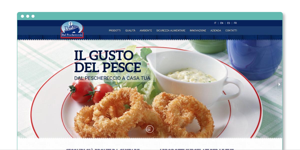 Taranpesca Spa - sito web responsive