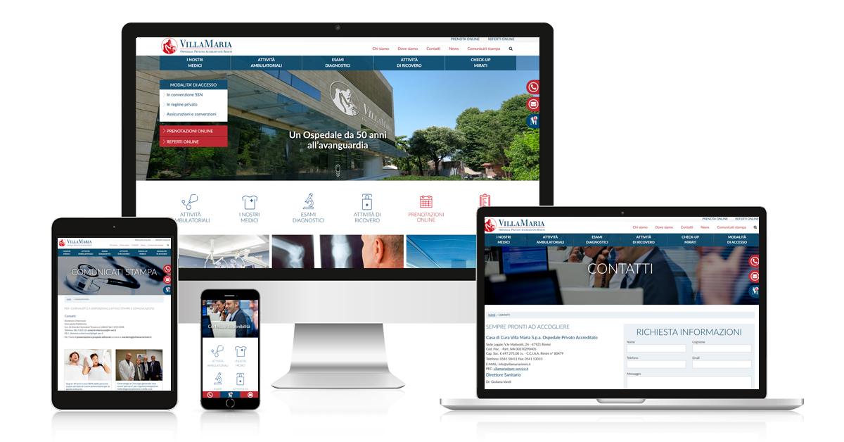 Casa di cura Villa Maria - progetto web